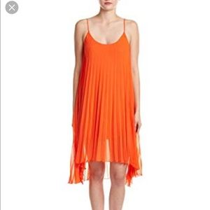 Bleu Rod Beattie orange summer dress small